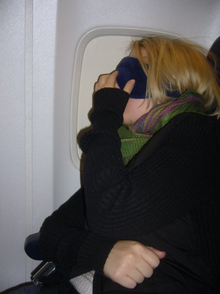 Sleeping on plane from Italy